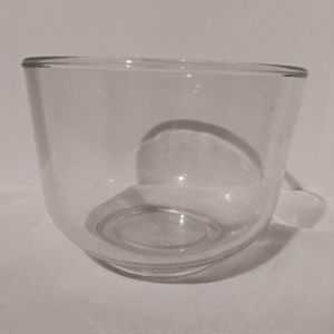 Vintage large glass bowl